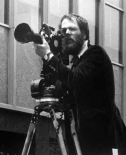 Peter Adair with movie camera